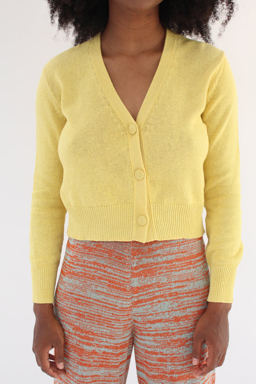 Beklina Cotton Knit Cardigan Banana