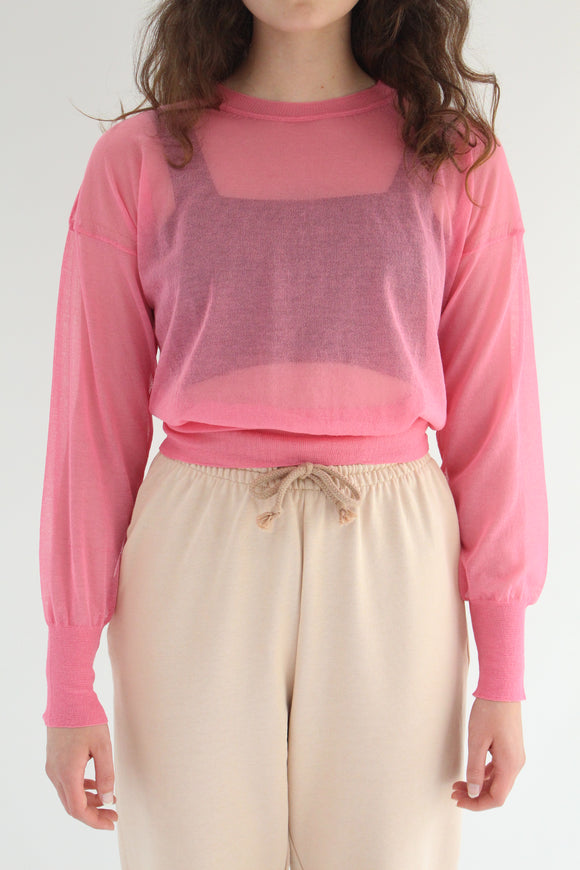 Paloma Wool Leds Pullover Top Light Fuchsia