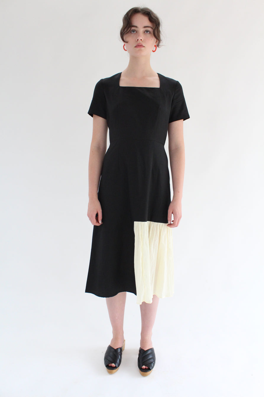 Correll Correll Rocco Di Dress Black/Ivory Gauze