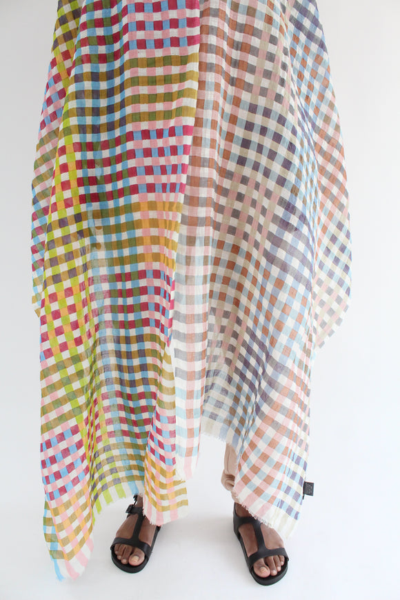Epice Square Plaid Scarf