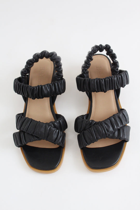 Beklina Gathered Sandal Black