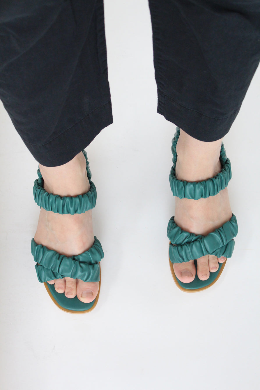 Beklina Gathered Sandal Cypress