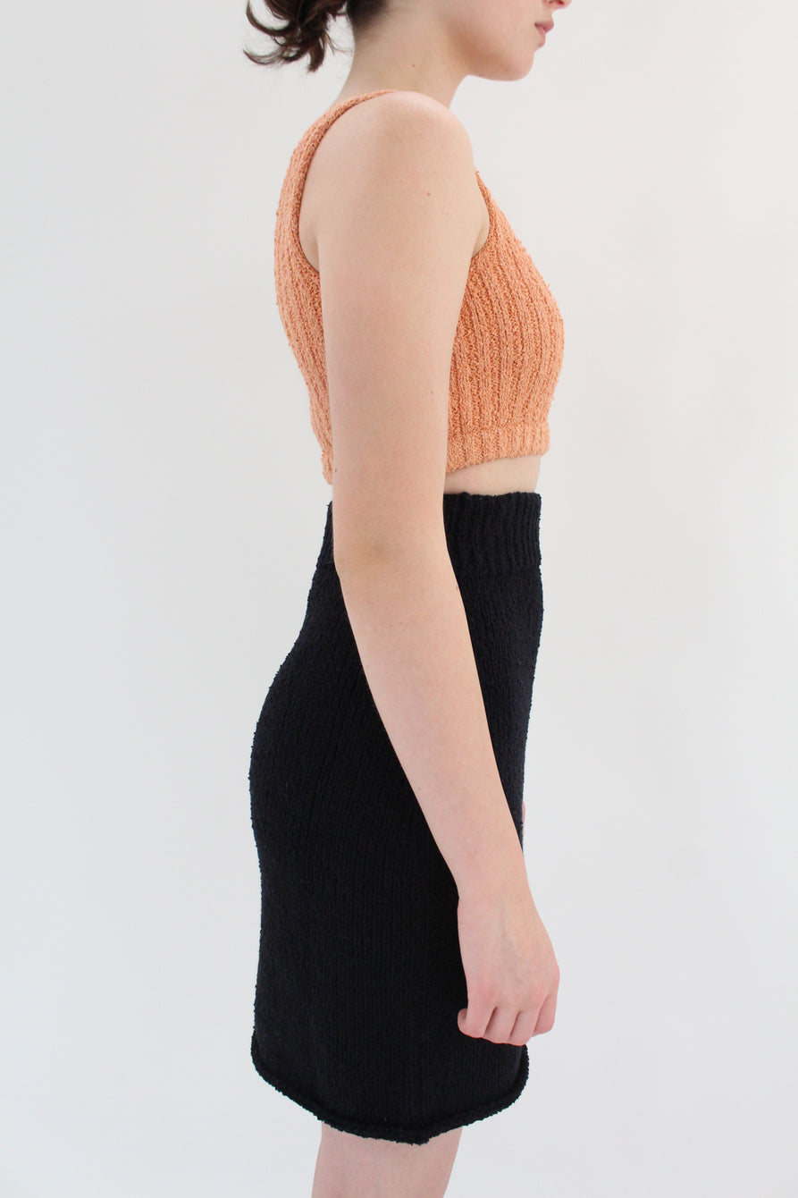 Beklina Bouclé Knit Skirt Black