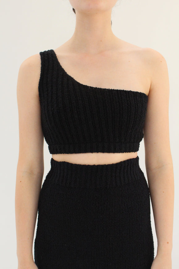 Beklina Bouclé Knit Uno Top Black