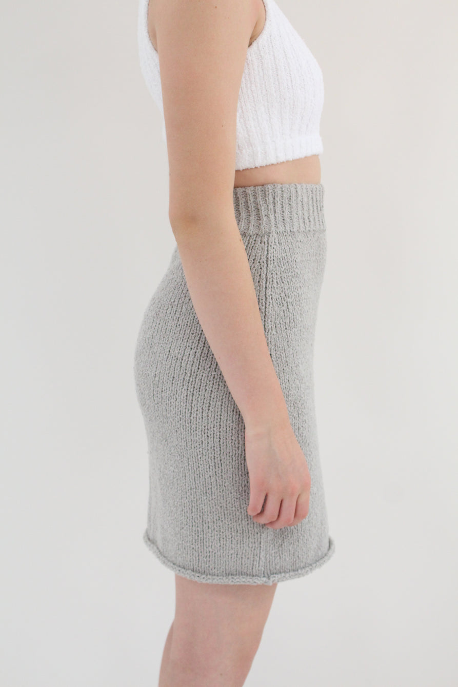 Beklina Bouclé Knit Skirt Grey