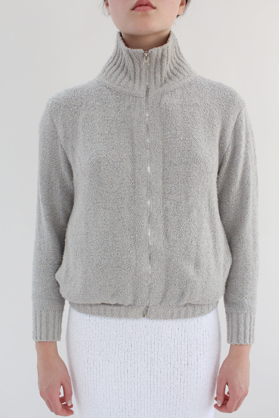 Beklina Bouclé Knit Track Jacket Grey