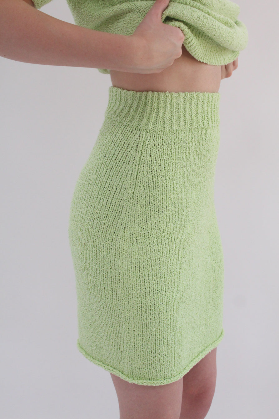 Beklina Bouclé Knit Skirt Mint
