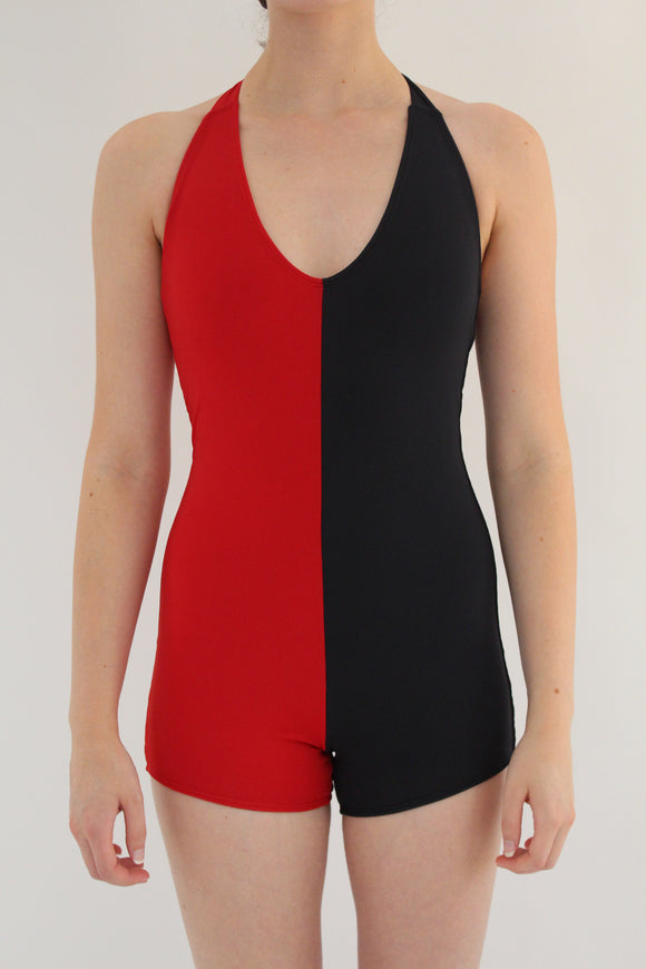 Beklina Tie Swimsuit Italian Lycra Red/Black