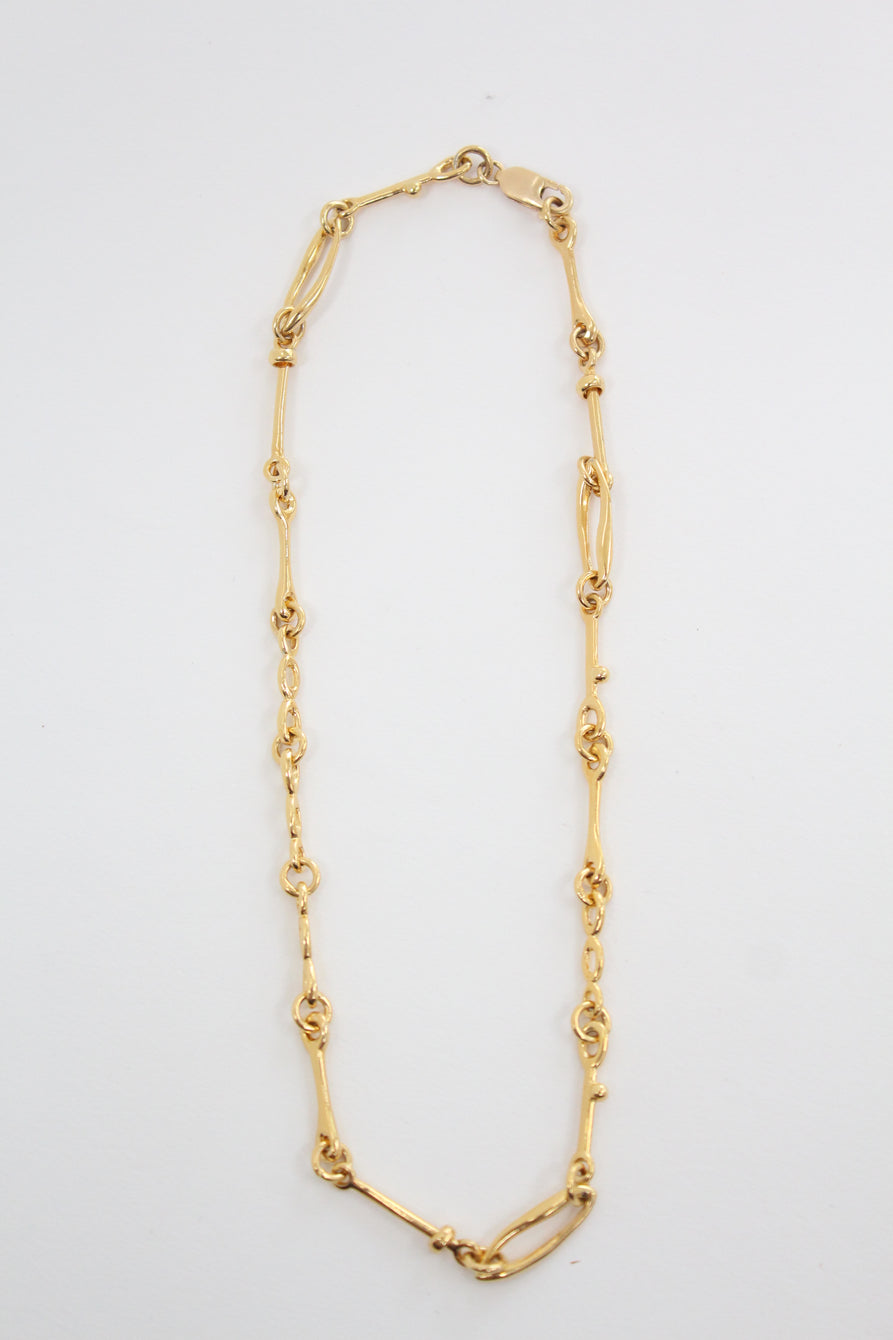 Leigh Miller Doodle Chain Choker Gold Plated