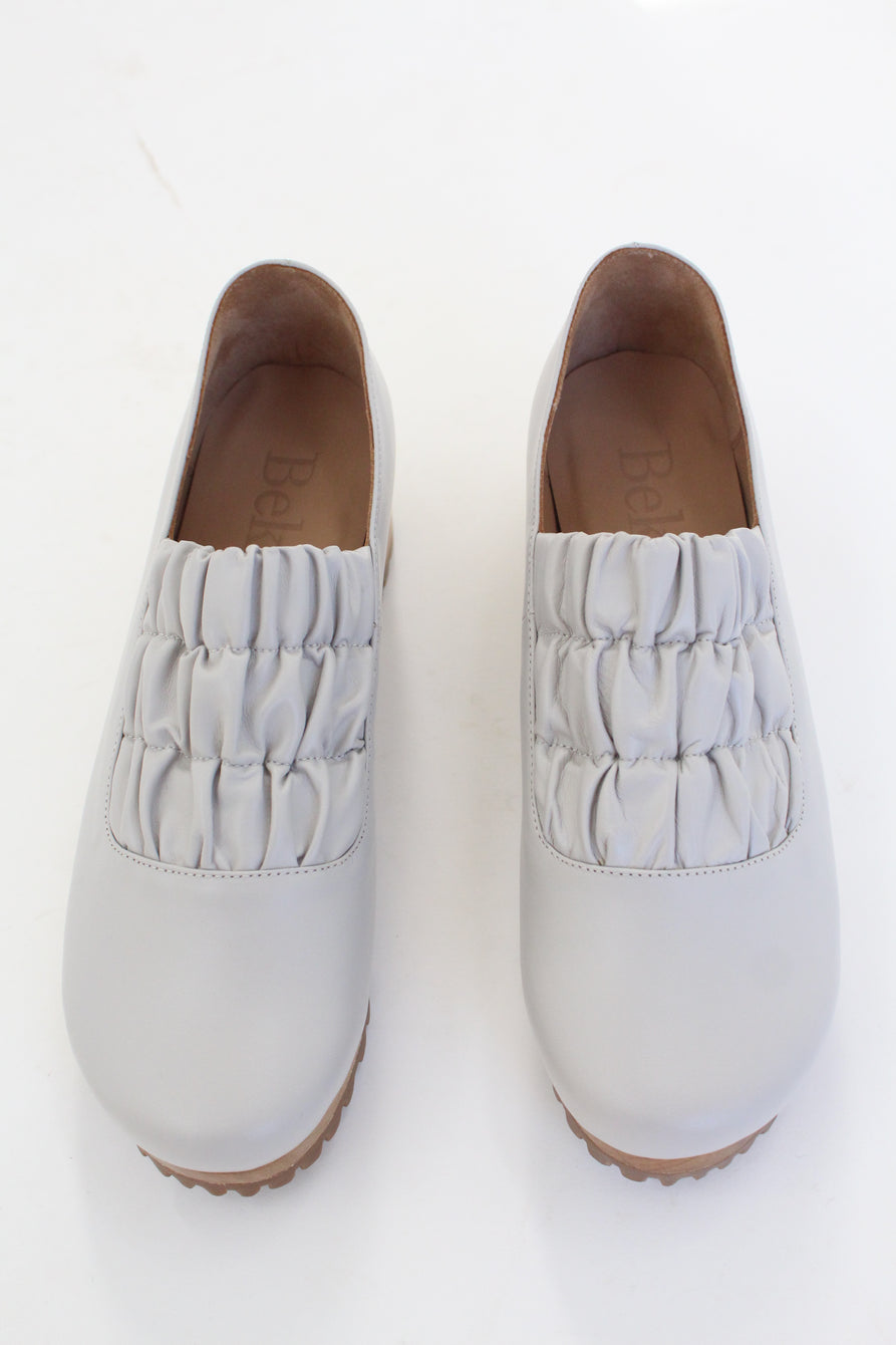 Beklina Gathered Clog Grey