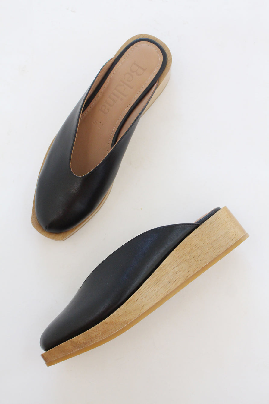 Beklina Wedge Clog Black