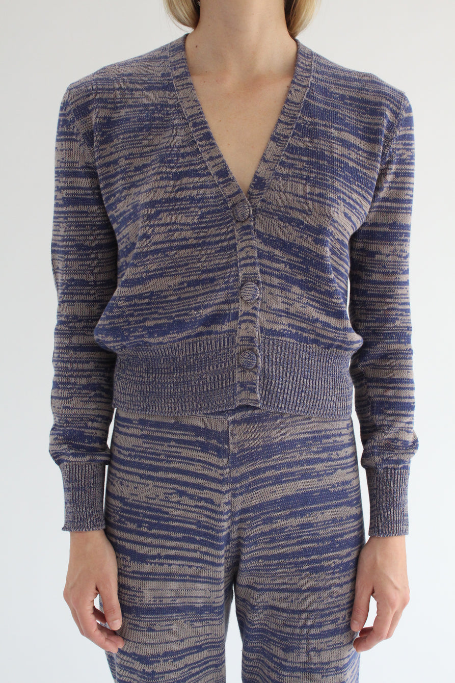 Beklina Cotton Knit Cardigan Cobalt