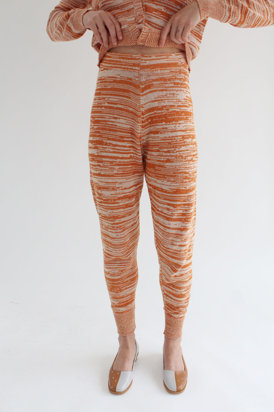 Beklina Cotton Knit Sweatpants Terracotta