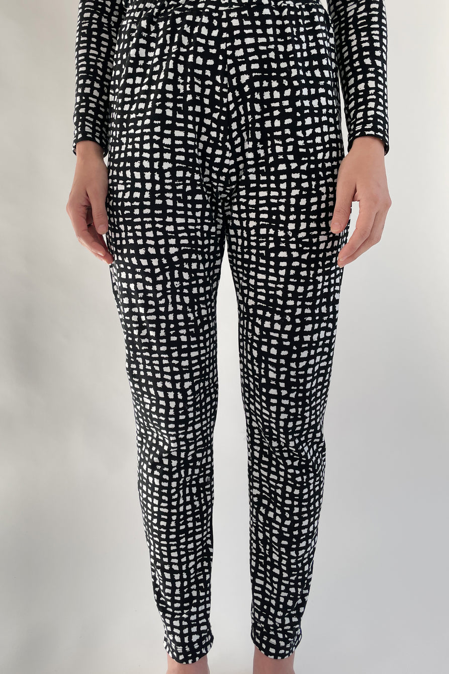 Beklina Travel Pants Grid Print
