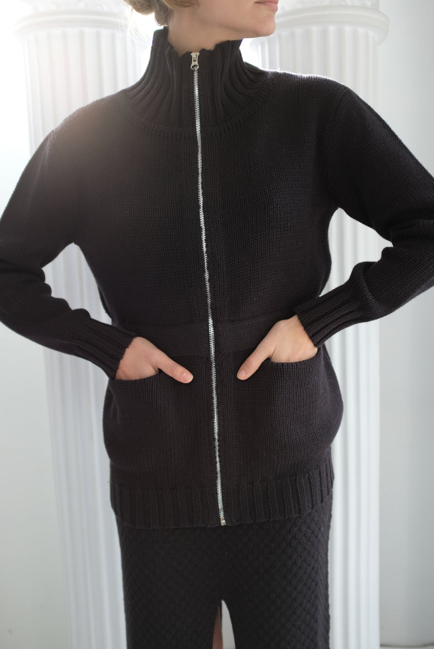 Beklina Knit Nonna Jacket Licorice