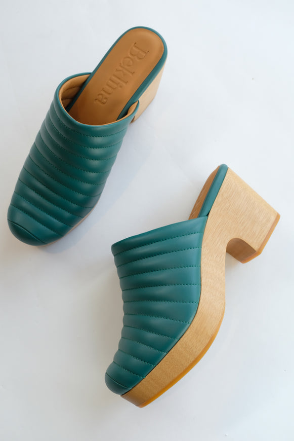Beklina Ribbed Clog Cypress