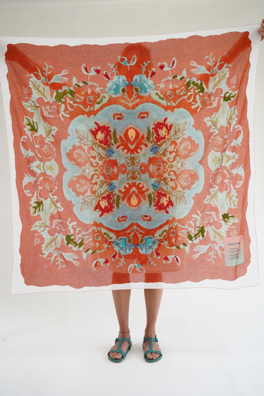 Anntian Flower Paint Scarf