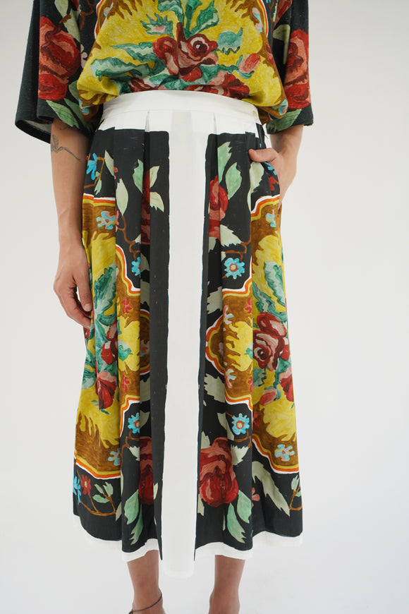 Anntian Painted Flowers Skirt