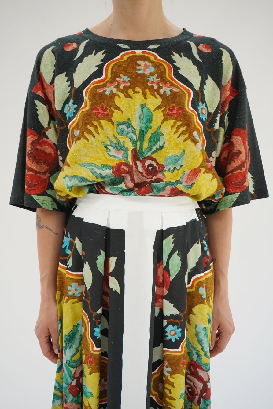 Anntian Paint Flowers Top