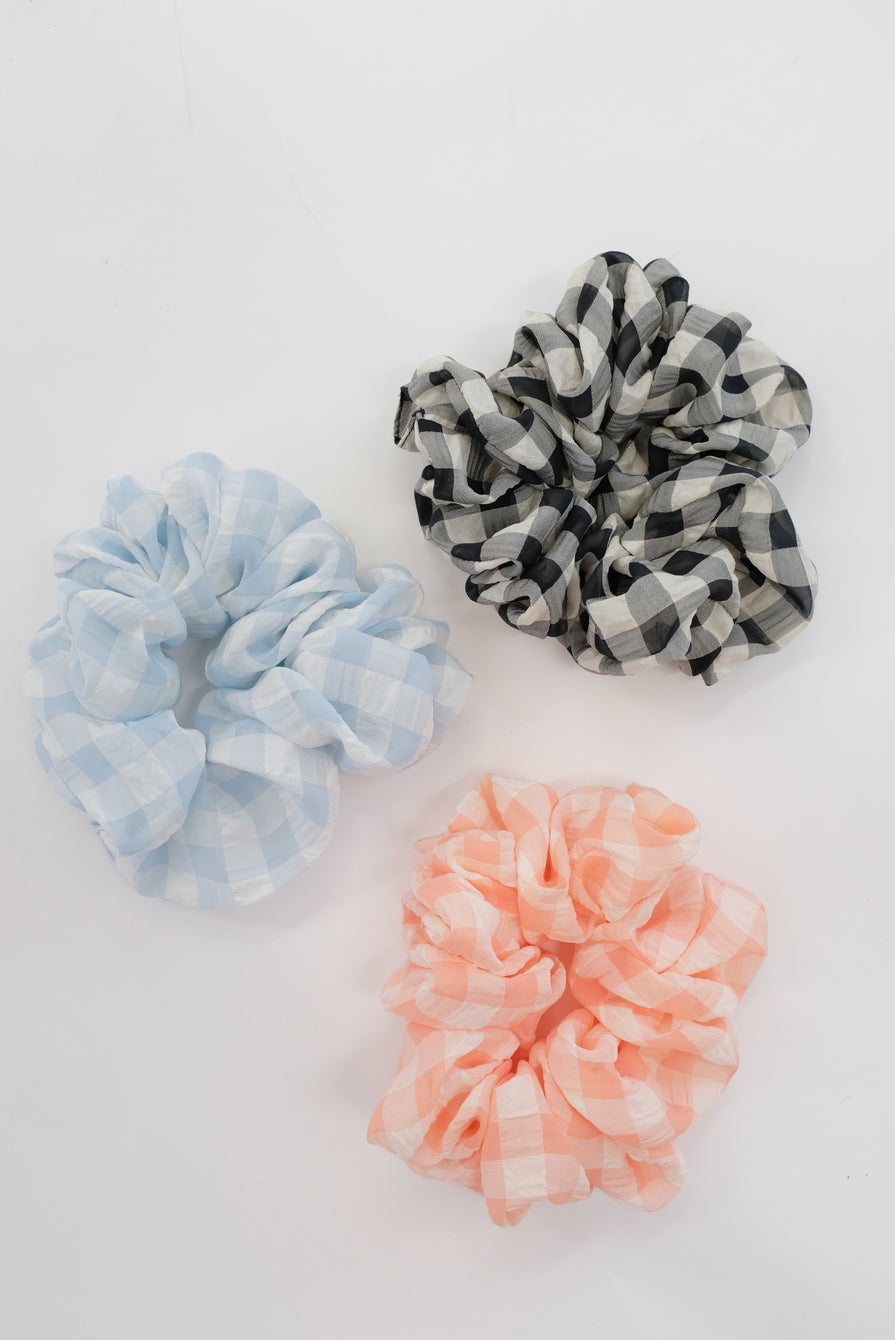 Beklina Oversized Scrunchie Gingham