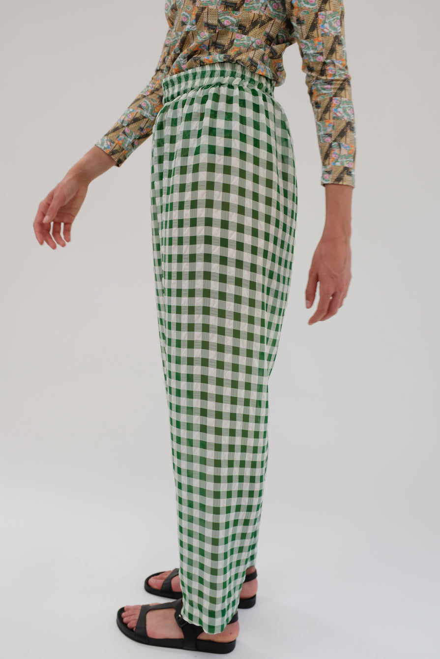Beklina Basic Pant Spinach Gingham