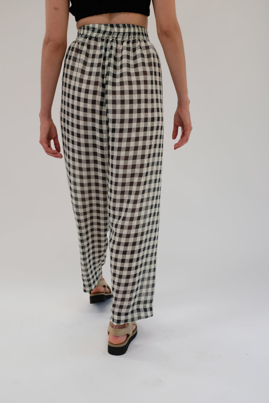 Beklina Basic Pant Black Gingham