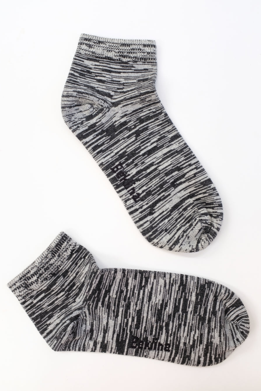 Beklina Space Dye Cotton Socks Black/Grey