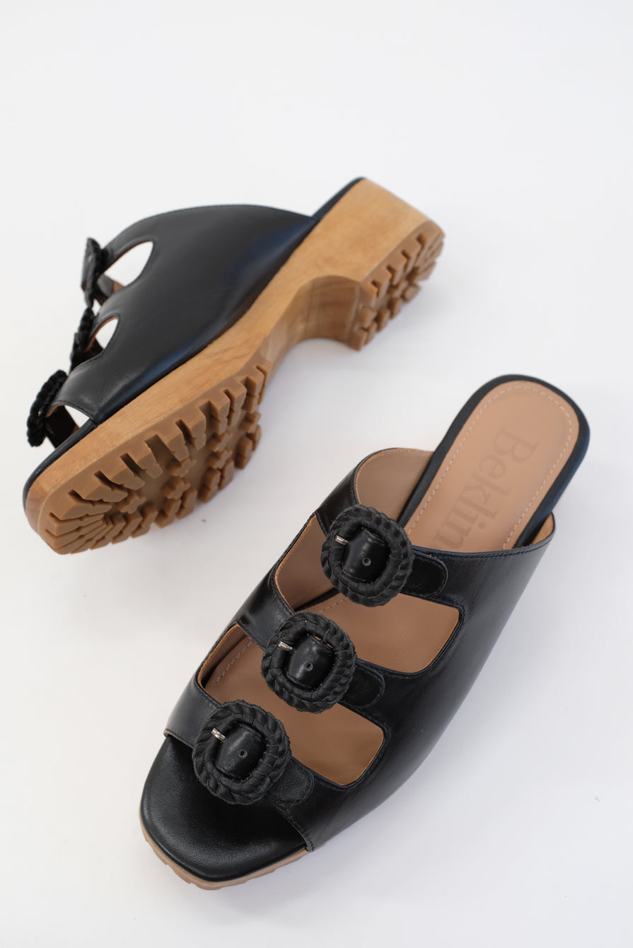 Beklina Buckle Clog Black