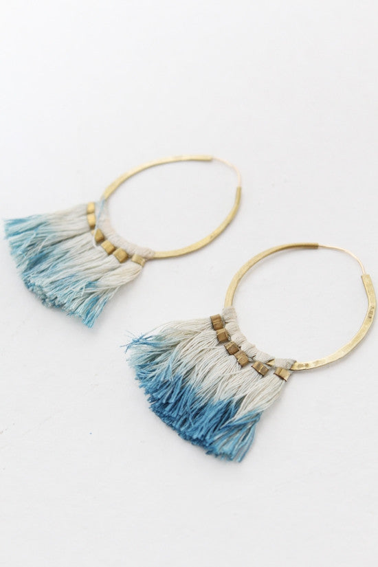 Takara Ornament Hoop Earrings