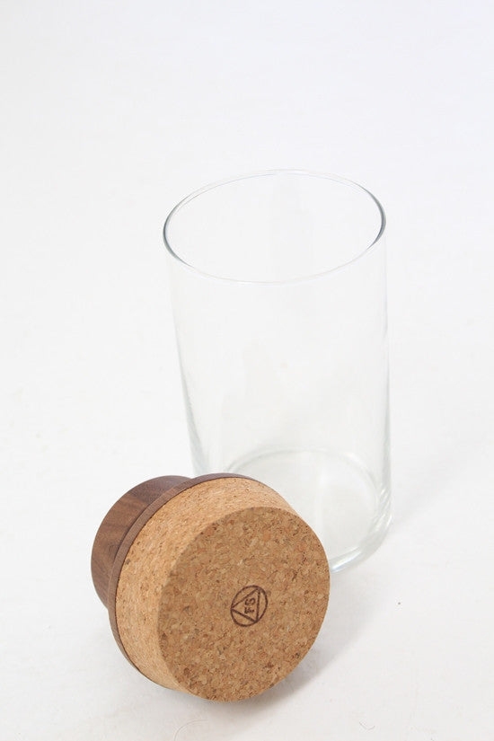 Glass & Wood Top Canister