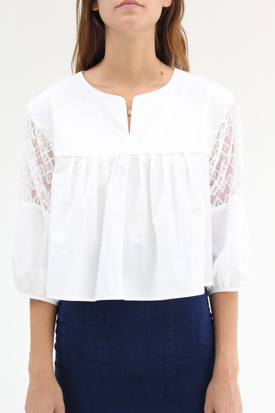 Apiece Apart Paloma Blouse White