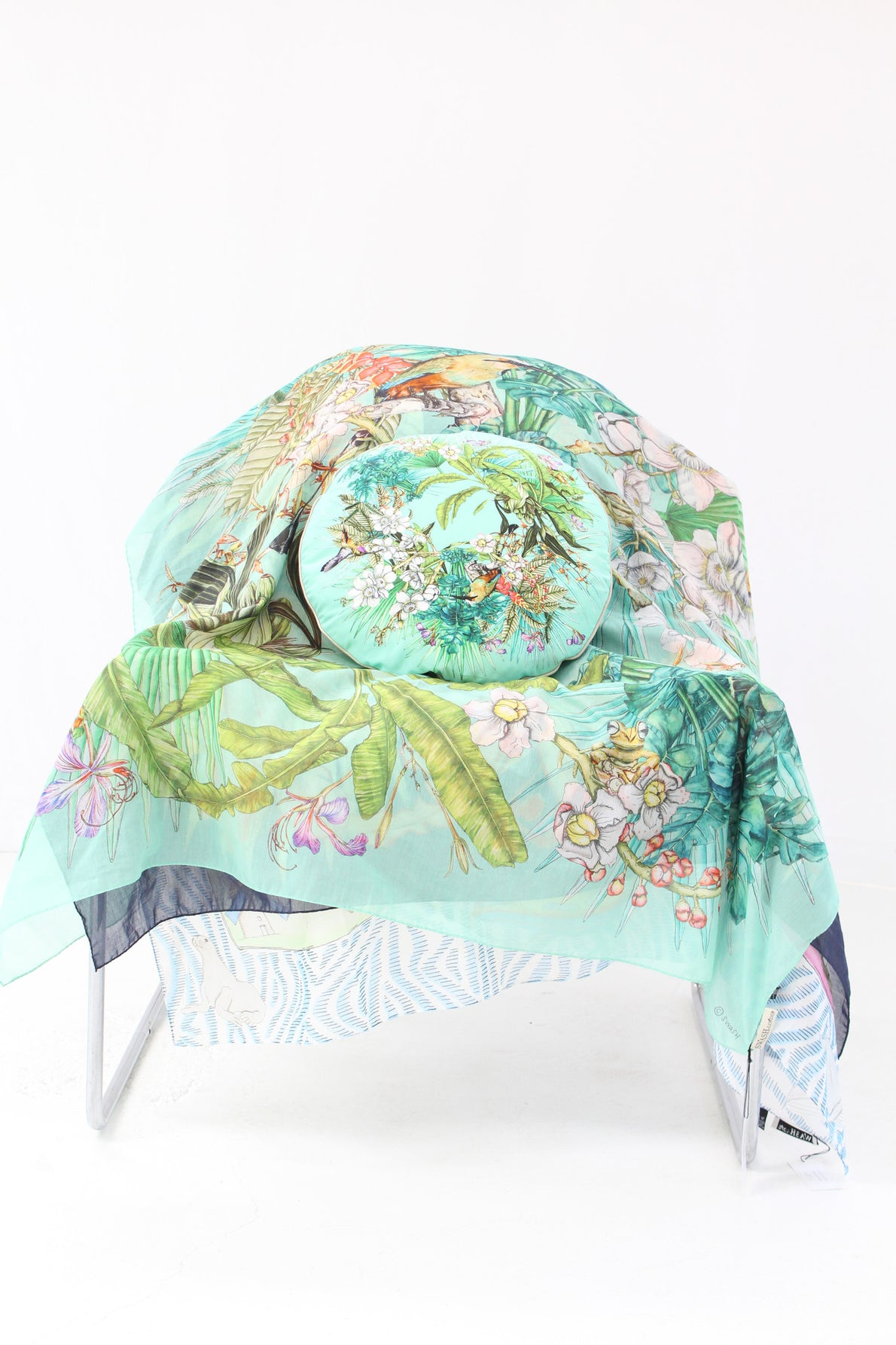 SWASH Silk & Cotton Scarf Amazonia Aqua