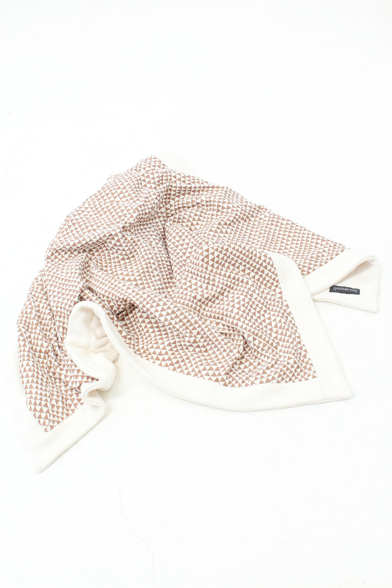 Lina Rennell Organic Cotton Copper Triangle Throw