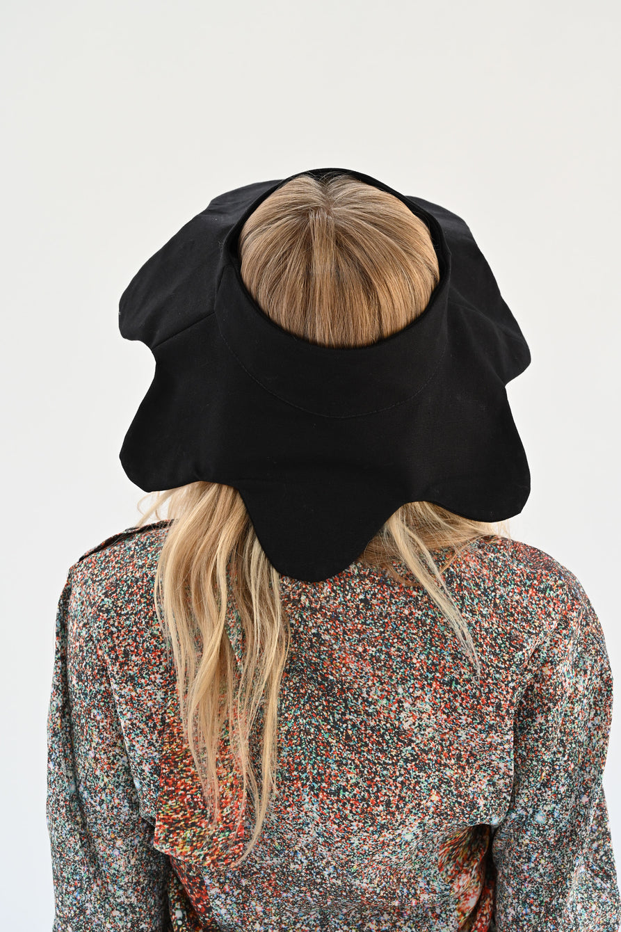 Beklina Flower Hat Black