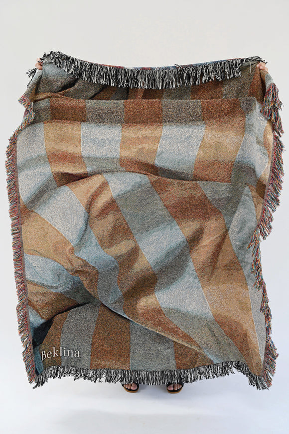 Beklina Throw Blanket Bedroom Stripes