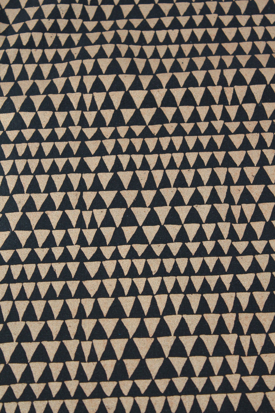 Lina Rennell Yardage Copper Triangle Silk Noil Black