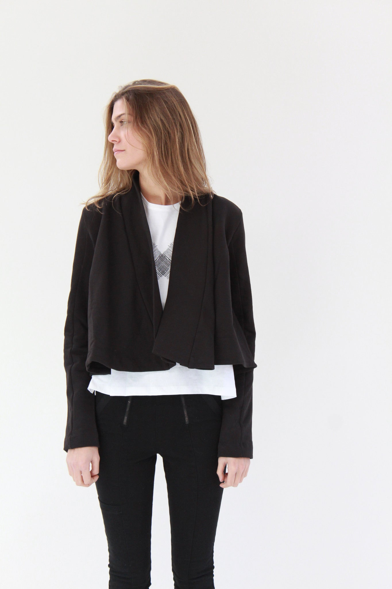 Beklina Kowtow Boundless Cardigan Black