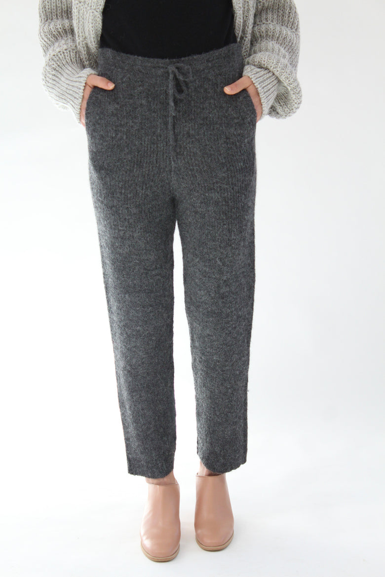 Micaela Greg Rib Sweats Grey At Beklina