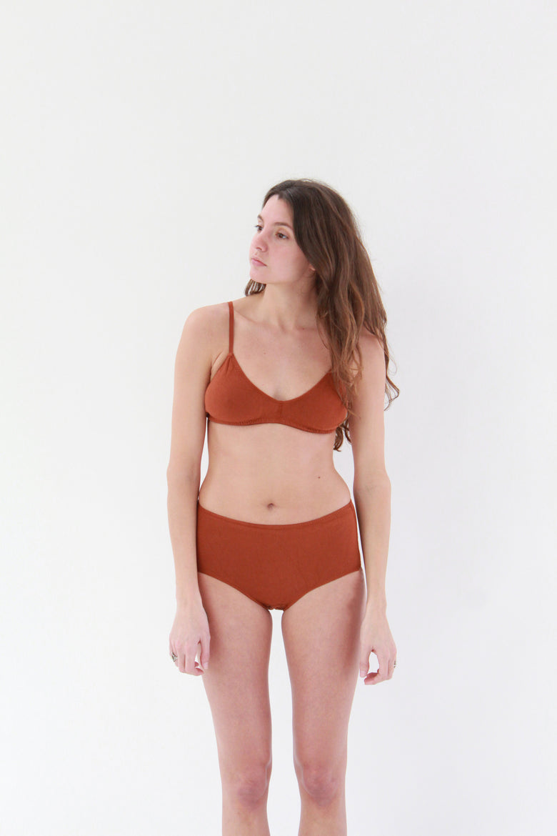 Beklina Pansy High Rise Underwear Rust