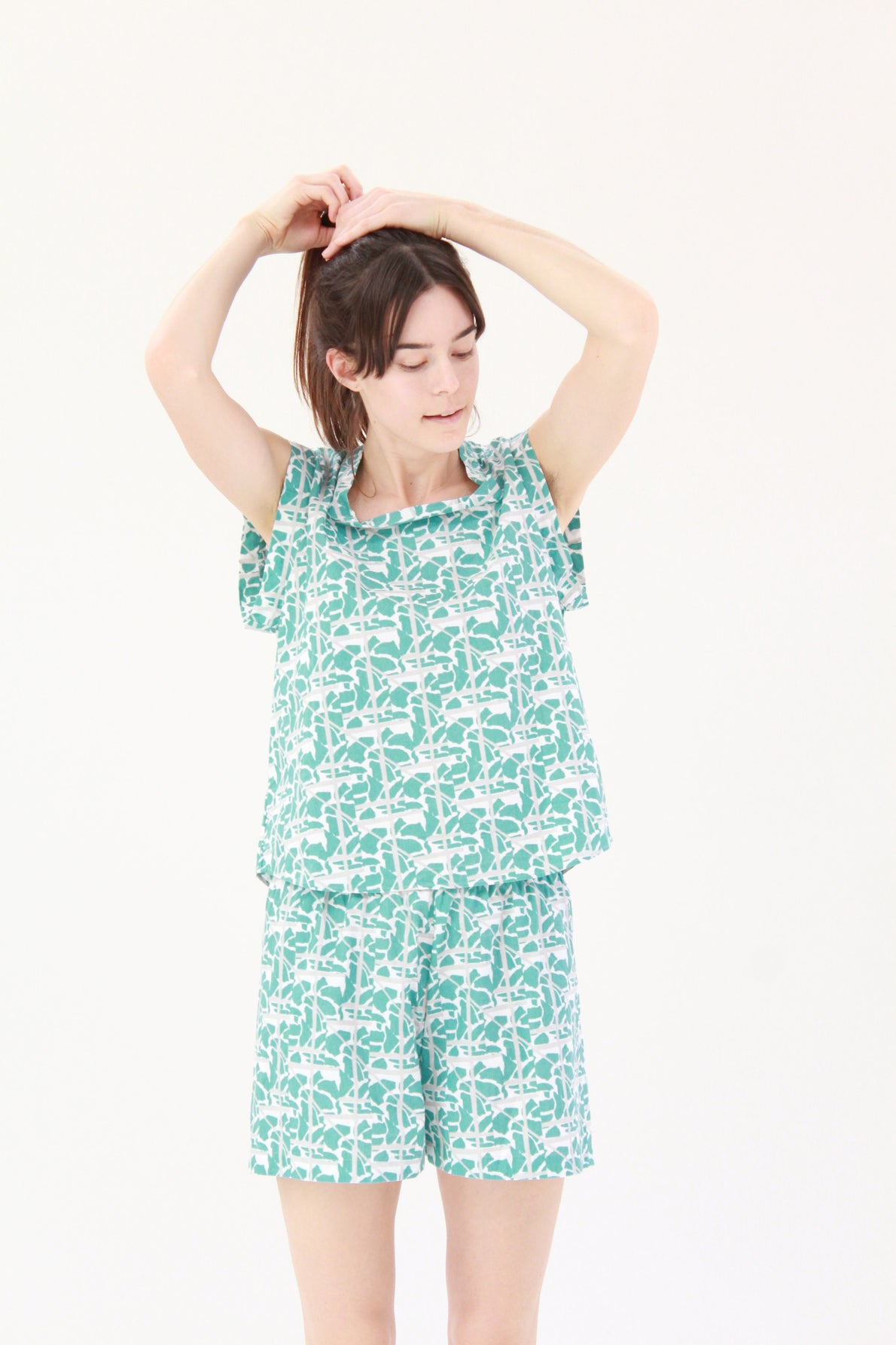 Lina Rennell Organic Cotton PJ Set Collage Print