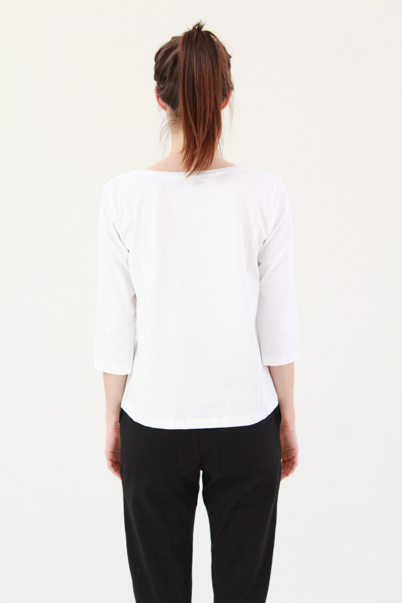 Beklina Building Block Boatneck Top White