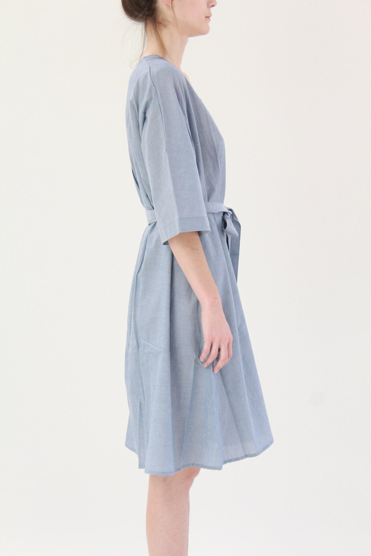 Beklina Kowtow Domus Shirt Dress Blue Chambray
