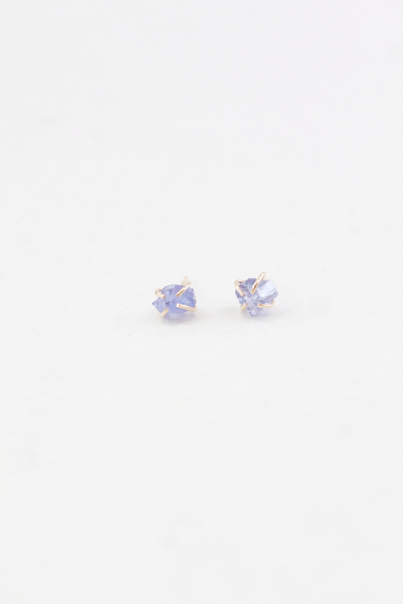 Melissa Joy Manning Raw Tanzanite Stud Earrings