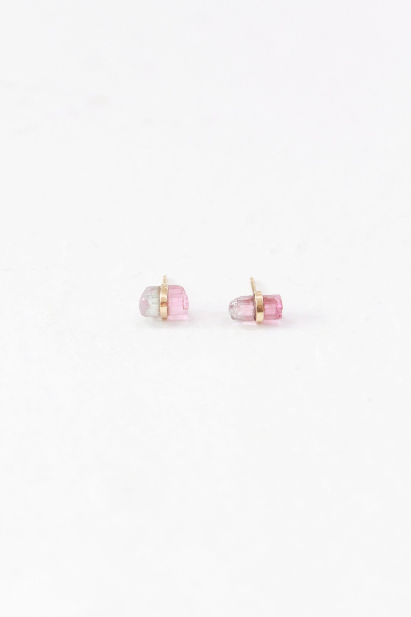 Melissa Joy Manning Rainbow Tourmaline Stud Earrings
