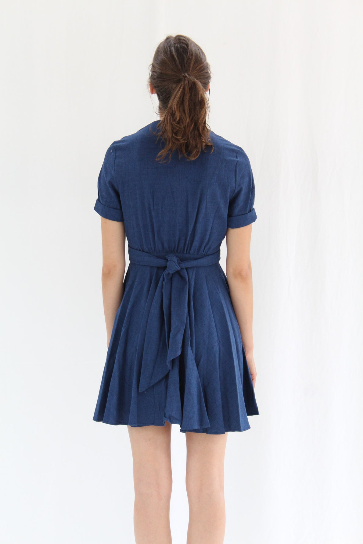Heinui Isadora Dress Indigo Chambray