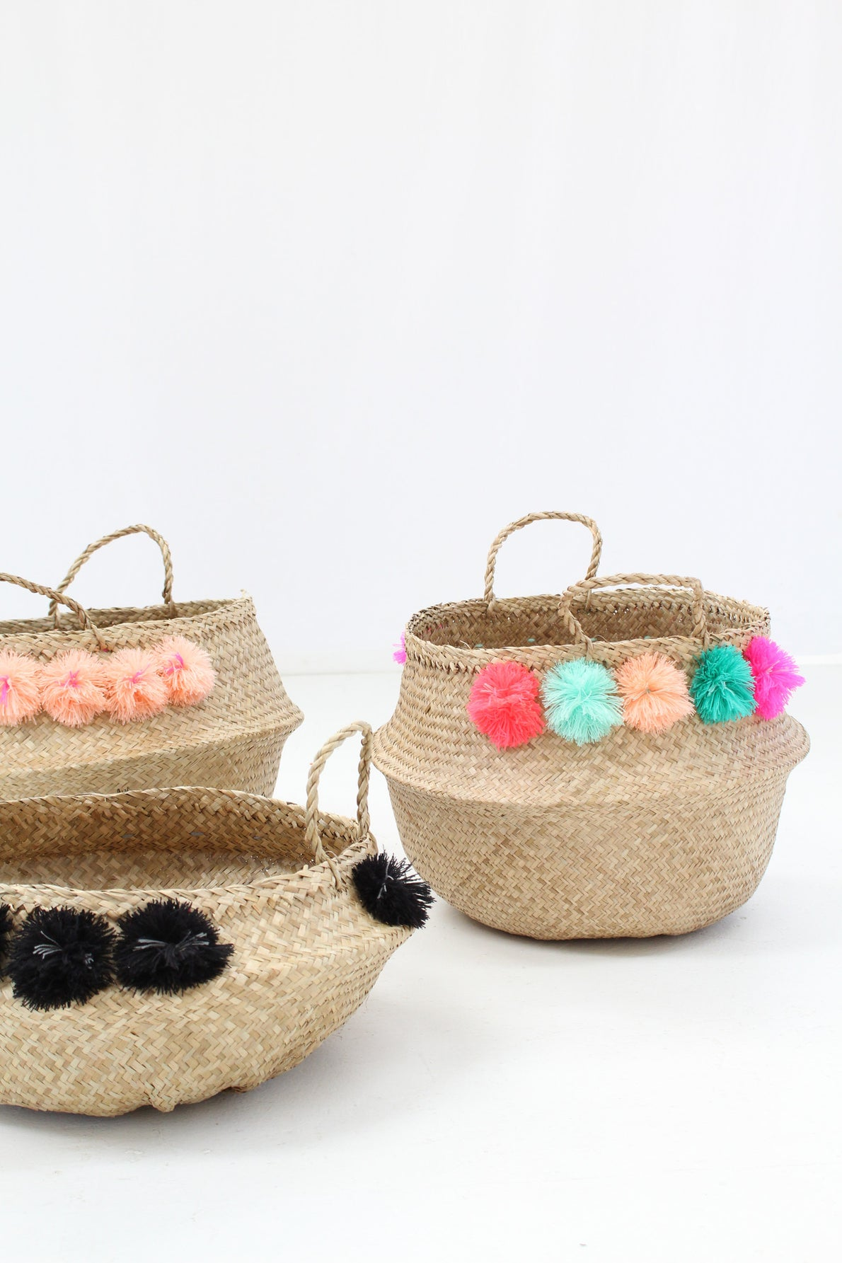 Pom Pom Basket Low