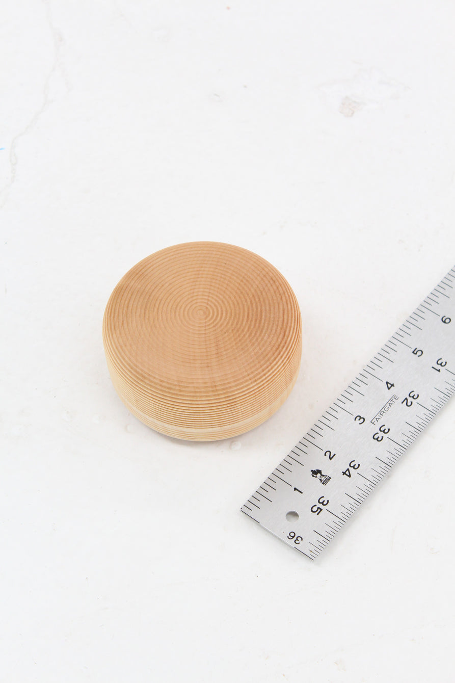 Japanese Wood Tea Canister Short