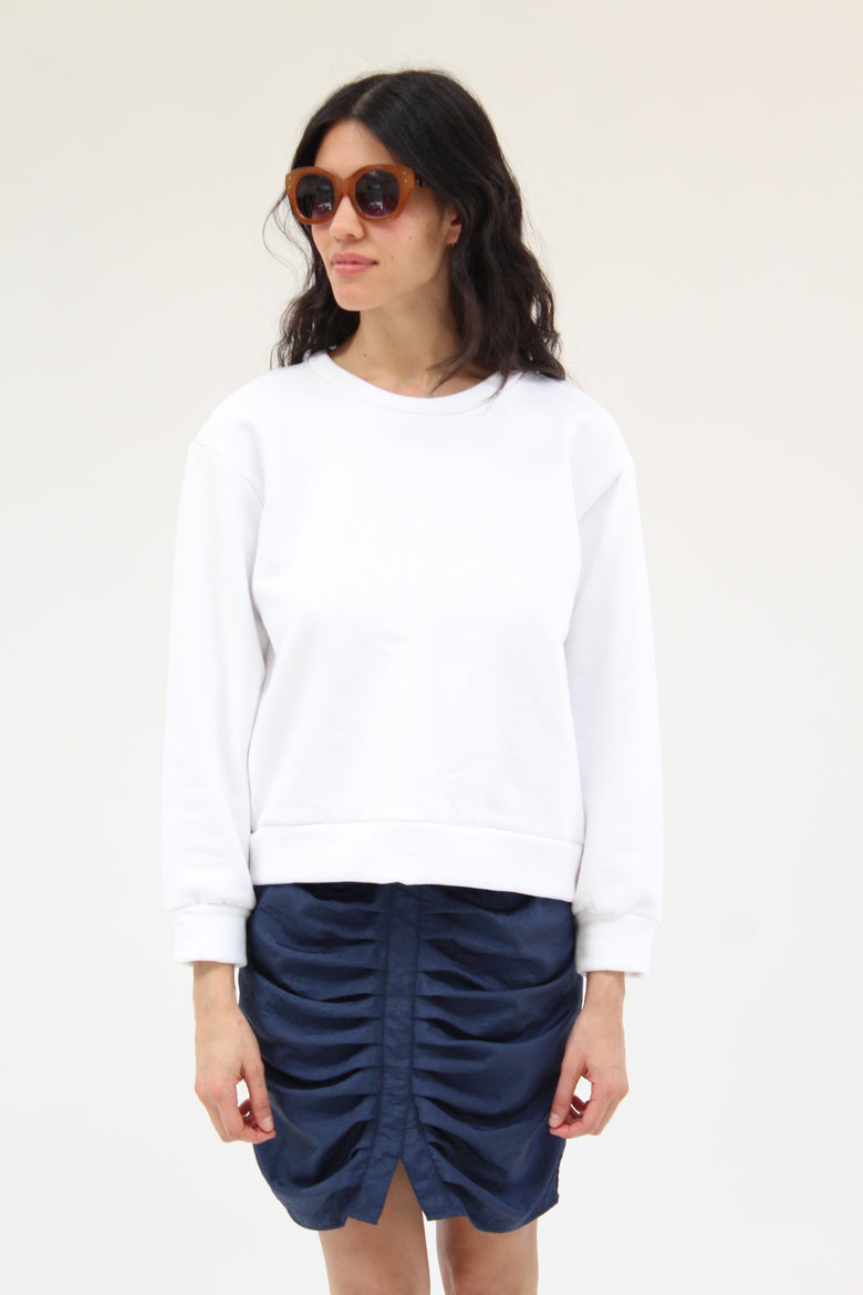 Beklina Live-in Sweatshirt White Organic Cotton
