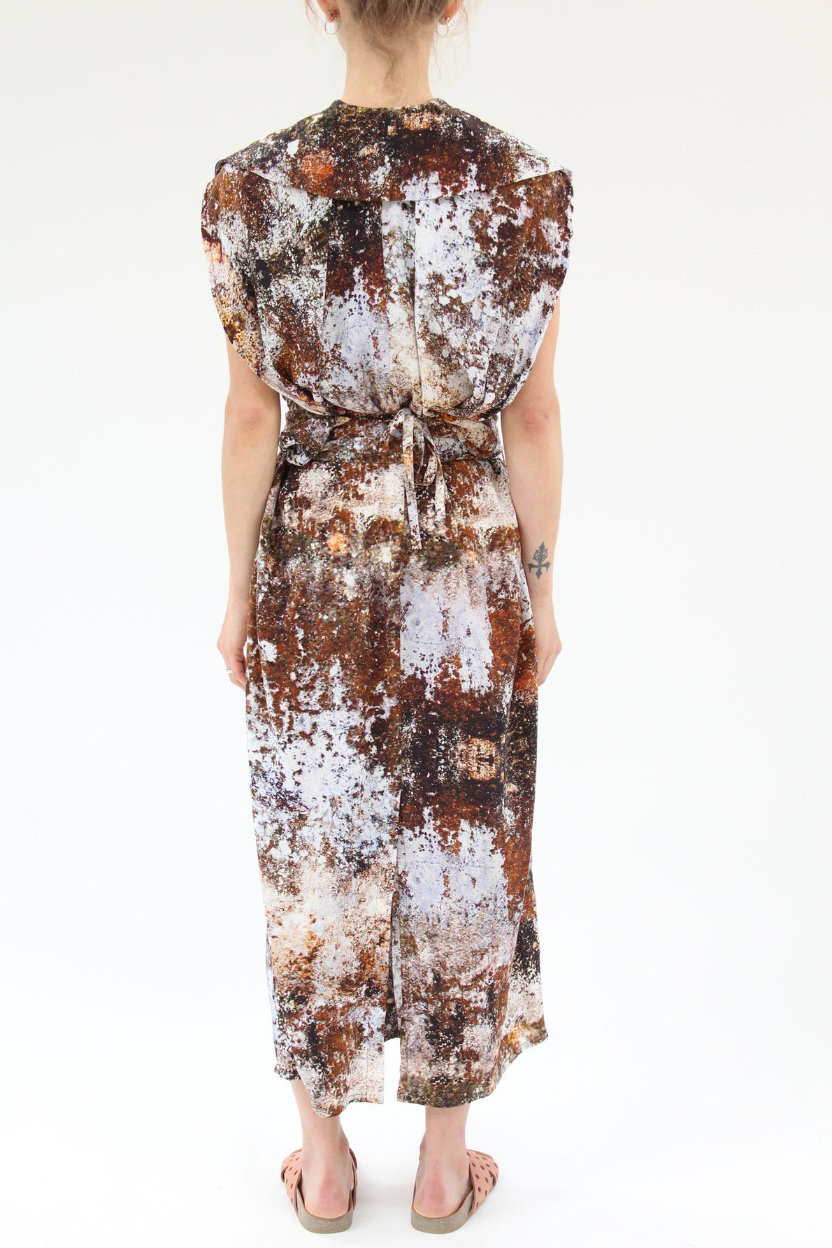 Anntian Long Roundish Silk Dress Print H