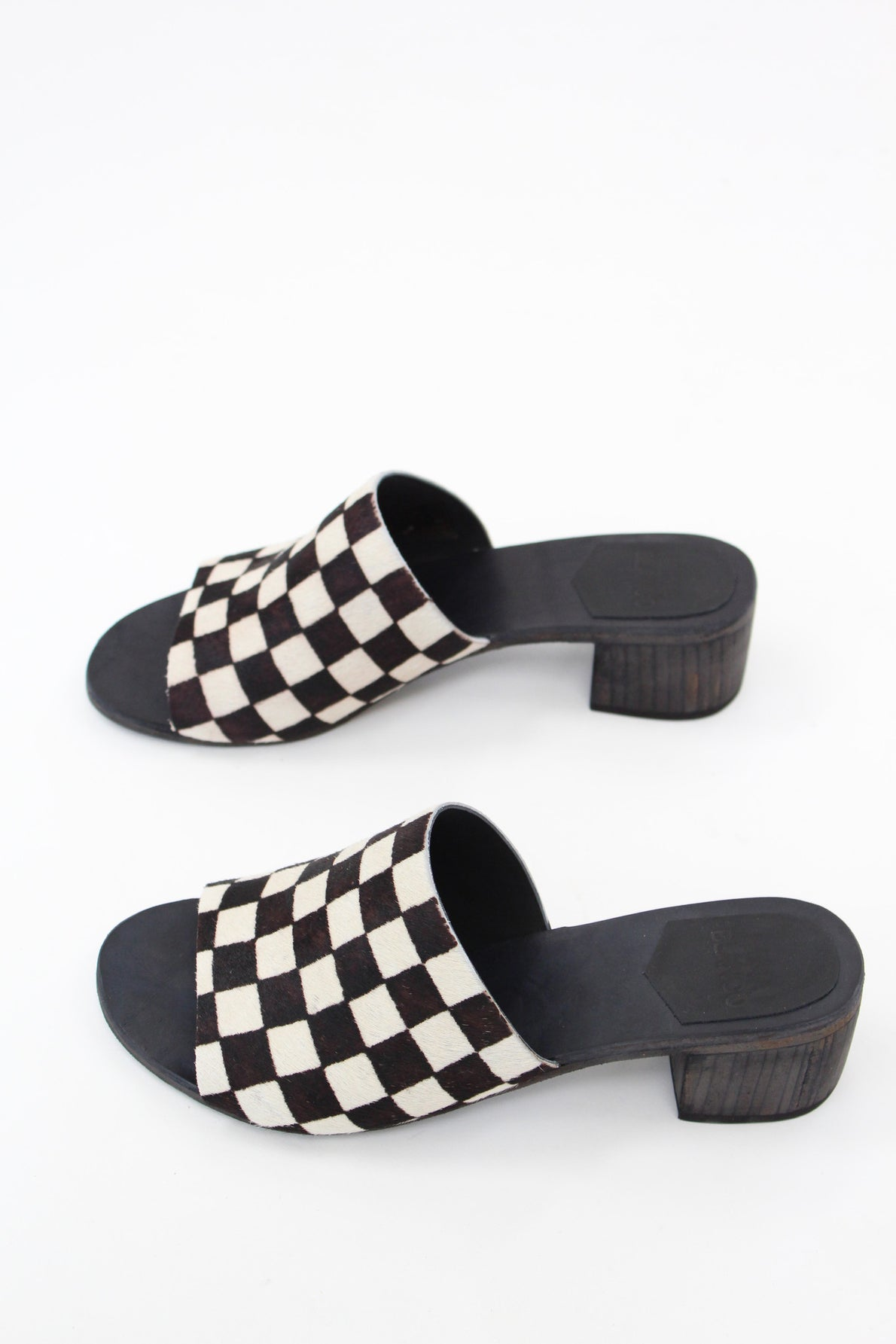 Carly Checkered Slides